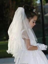Flower Girl Veil   Communion Veil For Little Girls