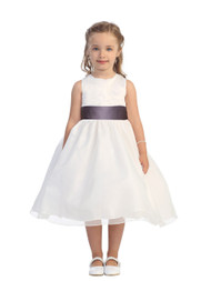 Flower Girl Dress By Tip Top Kids | First Communion Satin Organza Dress
