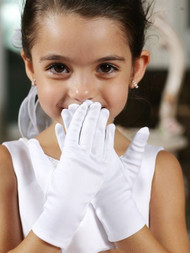 Tip Top Kids Flower Girl Gloves | First Communion Satin Gloves