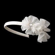 Girls Flower Crystal Headband | Crystal Beaded Girls Headband