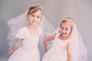 First Communion Veil With Cross Tiara | Girls First Communion Veil With Tiara