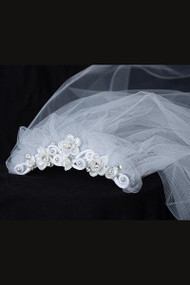 1st Communion Veil For Girl | First Communion Veil With Crown