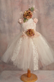 Couture Flower Girl Tutu | Birthday Girls Tutu | Girls Party Dress
