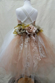 Couture Tutu Flower Girl Dress | Wedding Flower Girl Dress