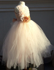 Couture Silk Tutu Dress For Flower Girl | Girls Birthday Tutu Dress