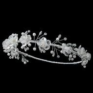 Flower Child Headband With Pearls | Communion Headband