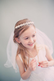 Communion Tiara With Veil | Girls White Communion Veil