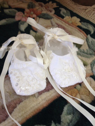 Baptism Lace Shoes For Baby | Infant Couture Christening Shoes