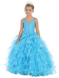 Girls National Pageant Gown | Fuchsia Pageant Gown For Girls