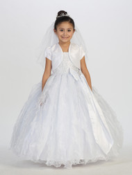Taffeta Communion Dress | White 1st Communion Dress