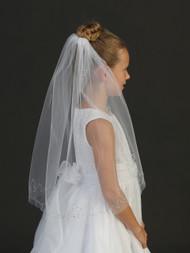 Girls Veil   White Communion Veil For Girls   First Communion Veil