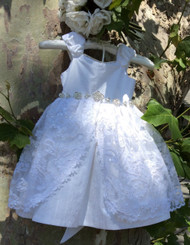 Toddler Silk Christening Dress | Silk Couture Christening Dress