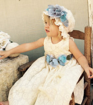 Ivory Cotton Lace Dress For Baby | Special Occasion Dress For Baby