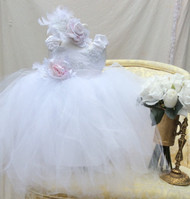Infant Baby Couture Tutu Dress | Baby Flower Girl Tutu Dress