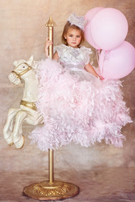 Princess Couture Feather Ball Gown | Wedding Flower Girl Ball Gown