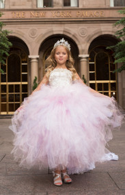 Girls Couture Flower Girl Tutu Dress | Couture Princess Birthday Tutu Dress