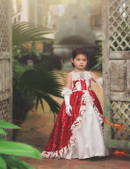 Girls Couture Holiday Ball Gown | Beautiful Girls Holiday Party Gown