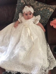 Baby Girl Baptism Heirloom Gown | Handmade Couture Christening Gown