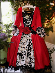 Princess Couture Red Ball Gown For Girls | Girls Party Gown