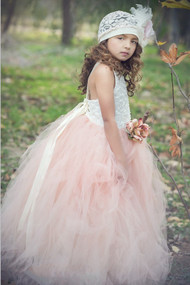 Stunning Pink Tutu Couture Flower Girl Dress | Birthday Tutu For Girls