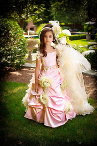 Couture Princess Flower Girl Gown | Girls Couture Wedding Party Gown
