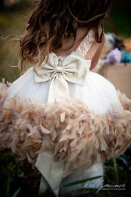 Wedding Couture Flower Girl Dress | Feather Party Dress For Girls