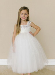 Holy Communion Tulle Dress | Amalee Couture Flower Girl Dress