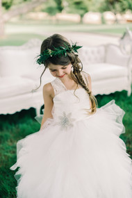 Girls White Flower Girl First Communion Dress By Amalee Couture