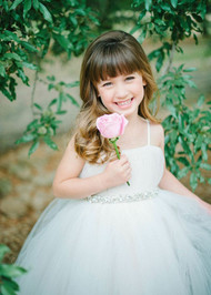 Couture Flower Girl Tulle Dress | Amalee Couture Communion Girl Dress