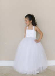 Girls First Communion Tulle Dress | Flower Girl Dress By Amalee Couture