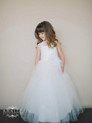 Amalee Couture Tulle Dress For Flower Girl | 1st Communion Dress