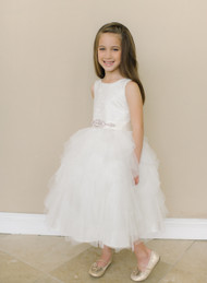 Amalee Couture Flower Girl Dress | Sleeveless Communion Dress