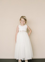 Amalee Couture Beautiful Flower Girl Communion Lace Dress