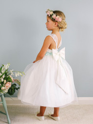 Girls Beautiful Lace Flower Girl Dress | Wedding Party Dress For Girls
