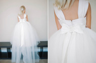 Delicate Tulle Tail For Flower Girl First Communion Dress
