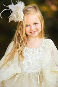 Beautiful Couture Princess Lace Flower Girl Communion Dress