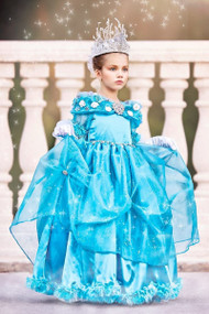 Disney Cinderella Gown For Girls | Formal Ball Gown For Little Girls