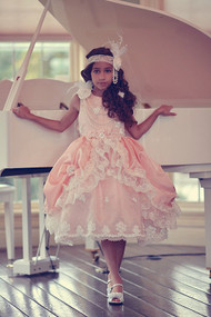 Couture Princess Taffeta Flower Girl Dress | Girls Special Occasion Dress