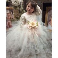 Kids Couture Birthday Tutu Dress | Girls Couture Flower Girl Dress