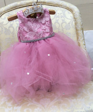 Baby Couture Flower Girl Tutu Dress | Birthday Tutu Special Occasion Dress
