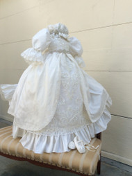 Victorian Couture Silk Christening Gown | Couture Christening Gown
