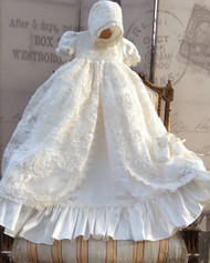 Stunning Couture Christening Gown | Couture Heirloom Christening Gown