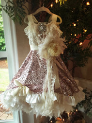Little Girls Couture Sequin Dress | Girls Sequin Couture Party Dress