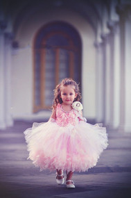 Darling Feather Couture Tutu Dress For Little Girls | Kids Couture Tutu Dress
