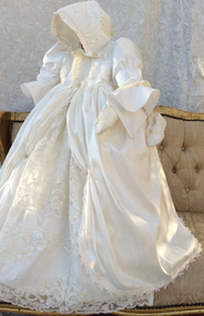 Dupioni Silk Couture Christening Gown | Heirloom Christening Gown