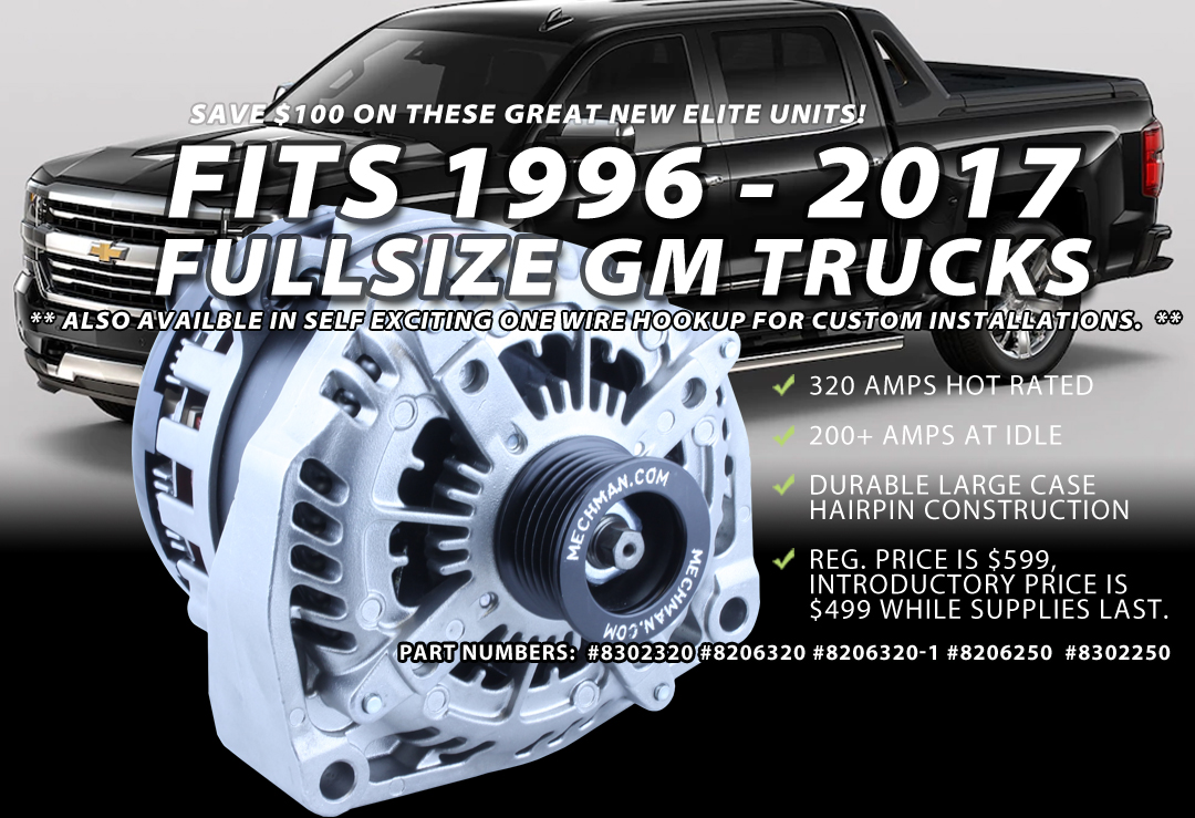 Mechman Alternators | Made in the U.S.A High Output Alternators ...