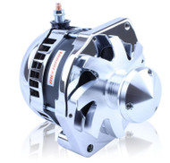 "S Series ""one-wire"" 320 Amp Alternator with 6.15"" Bolt Pattern - CHROME w/ March Pulley"