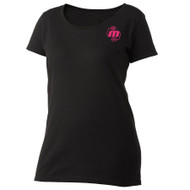 Ladies Scoop Neck T-Shirt - Black