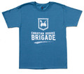 Denim Blue Men's T-Shirt with New Brigade Logo