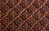 WC 20 Faux Tin Backsplash Roll - Antique Copper - Image taken of a 6 inch by 4 inch piece